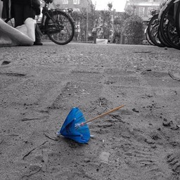 Paper Lost Umbrella. Amsterdam. March 28. 2014